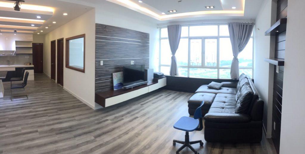 Chính chủ cần cho thuê CHCC Phú Hoàng Anh, 129m2, 3PN, 2WC, full nội thất.