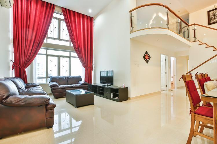 Cho thuê căn hộ sân vườn Phú Hoàng Anh 4 phòng ngủ, view đẹp, thoáng mát. LH: 0938 011 552