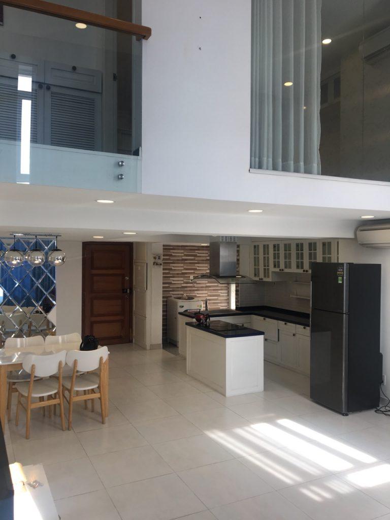 Cho thuê căn hộ cao cấp loft house Phú Hoàng Anh đường Nguyễn Hữu Thọ giá 1200$ full nội thất LH 0938011552 Ms.Thu